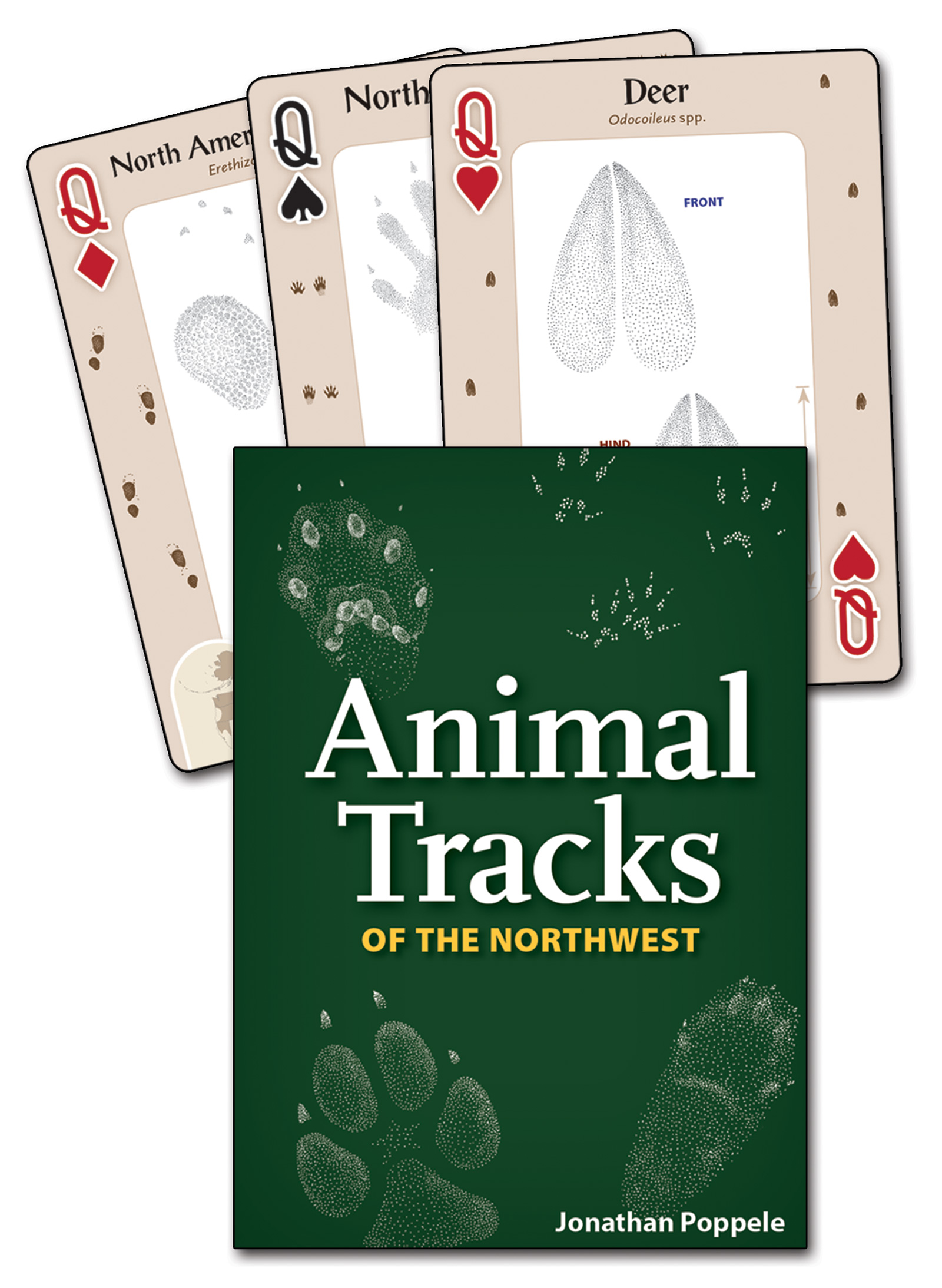 Animal Tracks of the Northwest Playing Cards