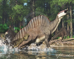 Dinosaur art by James Kuether